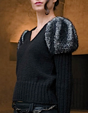 V-Neck Pullover with Juliet Sleeve in Zara, Superior and Operadarte
