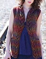 Cabled Hooded Vest - Tapestry