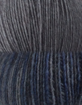 Picture showing two types of yarn